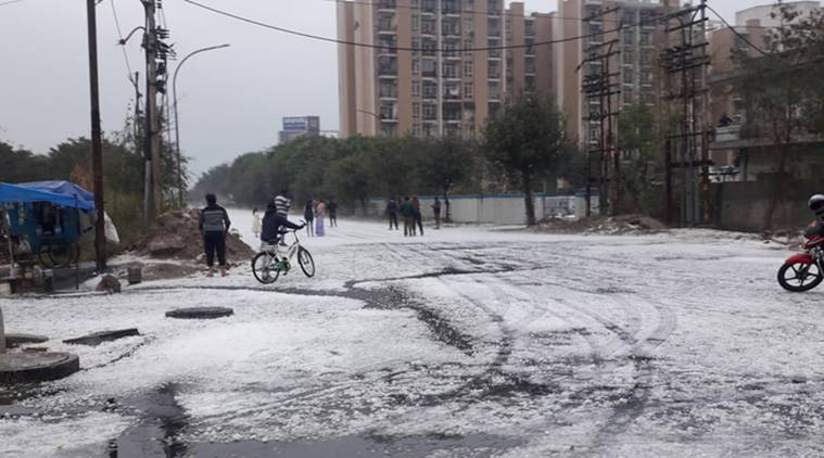 Scientists: Noida's snowfall like hailstorm had imprints of climate change