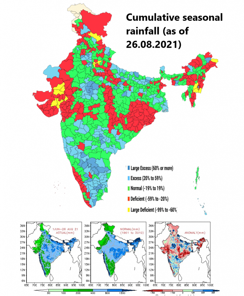 """India records 33% rain deficiency in August after second monsoon """"break"""""""